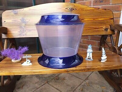 £9.99 • Buy ROUND PLASTIC FISH TANK Ideal For Starter Bowl Aqua Plant And Ornaments Included
