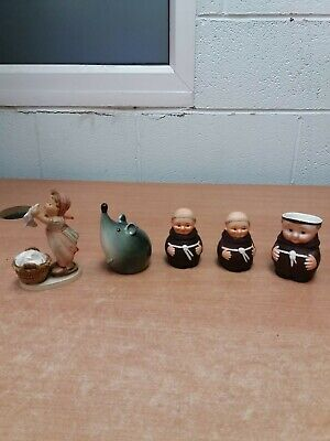 £9.99 • Buy A Joblot Of 5 Goebel West Germany Figures Monk Rare Mouse
