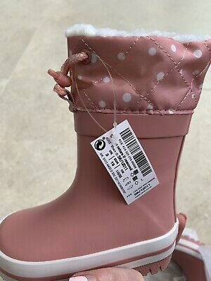 £5 • Buy Brand New Next Girl Toddler Wellie Wellington Boots  Uk 3 Infant Pink Lined