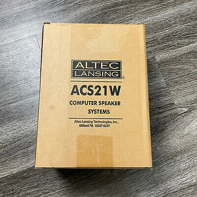 £26.98 • Buy Altec Lansing ACS21W Speakers NIB Use With Computer, Laptop, Phone, Television