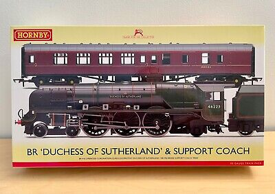 £185.72 • Buy Hornby BR Duchess Of Sutherland Steam Loco & Support Coach Train Pack R3221