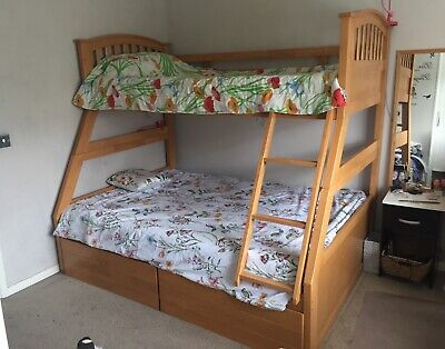 £20 • Buy Wooden Triple Bunk Bed Single And Double No Matresses Used