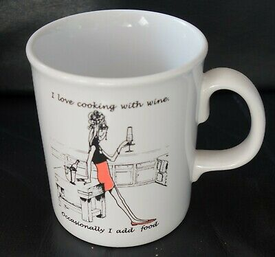 £6.99 • Buy I Love Cooking With Wine-occasionally I Add Food Mug By Tams, England.