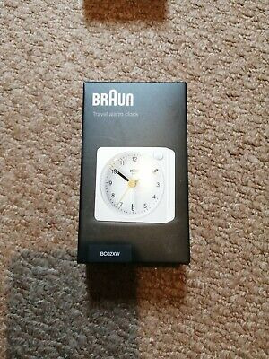 £5.70 • Buy Braun Travel Alarm Clock Analog White Classic Tabletop With Snooze And Light