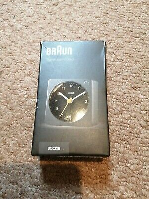 £4 • Buy Braun Travel Alarm Clock Analog White Classic Tabletop With Snooze And Light