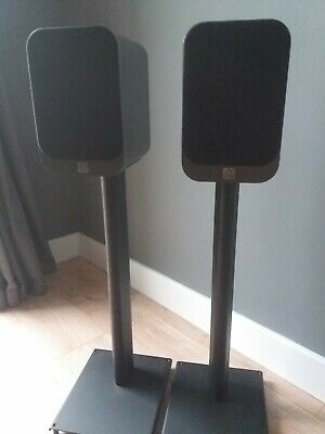 £130 • Buy Q  Acoustic 3020 Hifi Speakers With Matching Stands