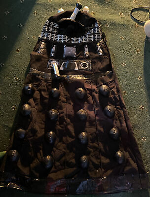 £30 • Buy KIDS Doctor Who BLACK DALEK Costume With Voice-exterminate 110cm High BC87
