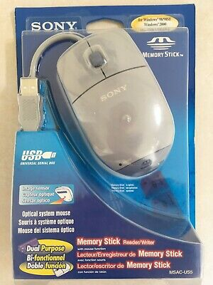 £66.79 • Buy Sony Memory Stick Reader/Writer Optical USB Mouse (MSAC-US5) Brand New Unopened