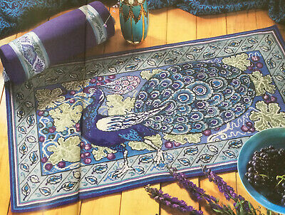 £3.50 • Buy Tapestry Chart Art Nouveau Peacock Rug & Bolster (286A)
