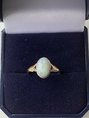 £20 • Buy 9ct Yellow Gold Opal Ring Size P