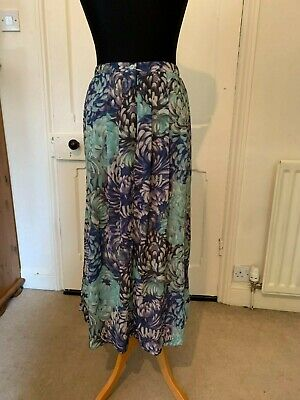 £6.50 • Buy Cotswold Collection Womens Blue Skirt And Matching Scarf Size 14