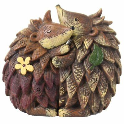 £4.90 • Buy Pair HEDGEHOGS ORNAMENT Decoration Figurine Resin Present Gift Home