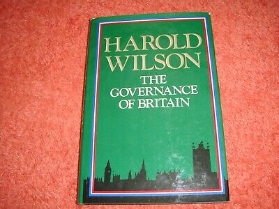 £29.99 • Buy SIGNED  HAROLD WILSON  THE GOVERNANCE OF BRITAIN    (HB, 1st ED & UNDEDICATED)