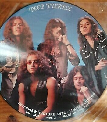 £15 • Buy Limited Edition Deep Purple Interview Picture Disc