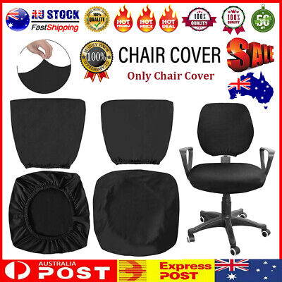 AU12.59 • Buy Spandex Stretch Computer Chair Cover Home Office Chairs Seat Case Black AU