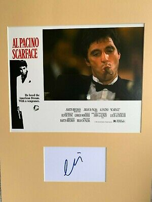 £175 • Buy Rare Al Pacino Scarface Poster Signed With Cerificate Of Authenticity