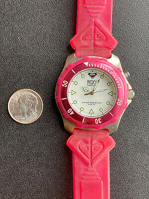 £0.72 • Buy Vtg Roxy Quiksilver Surf Swim Diver Chronograph Watch Pink Rx220 330ft Wow