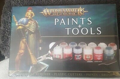£15 • Buy Warhammer Age Of Sigmar Paints And Tools Set - New
