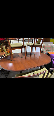 AU500 • Buy Parkers Teak Dining Setting - Vintage - 6 Chairs - 2 Carvers - Extension Table