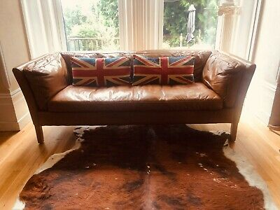 £350 • Buy Halo Groucho Medium 2-Seater Leather Sofa, Hand Tipped Camel From John Lewis