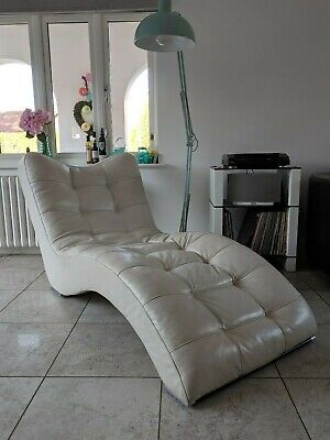 £350 • Buy Chaise Longue Sofa Day Bed Recliner Chair Single Window Seat Leather