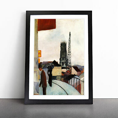 £18.95 • Buy Cathedral By August Macke Wall Art Framed Print Picture