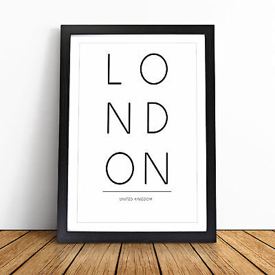 £11.95 • Buy London United Kingdom Typography Wall Art Framed Print Picture