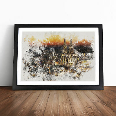 £18.95 • Buy The Cologne Cathedral Vol.1 Watercolour Wall Art Framed Print Picture