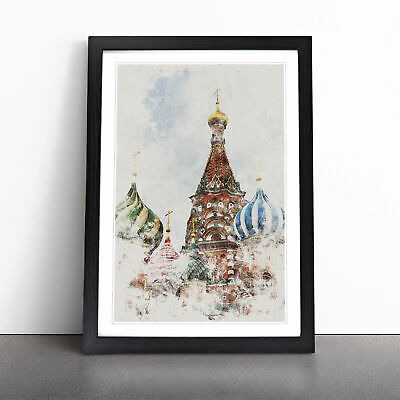 £18.95 • Buy The St Basils Cathedral Russia Watercolour Wall Art Framed Print Picture