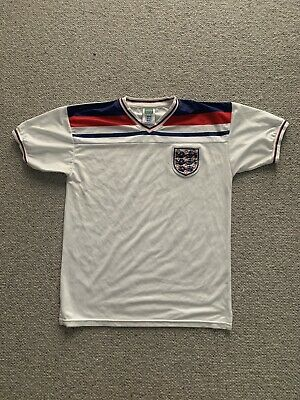 £5 • Buy Retro Remake England 1980-1982 World Cup Mens L Large Home Shirt Score Draw