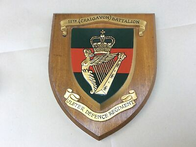 £55 • Buy VINTAGE HAND PAINTED BRITISH ARMY 11th BN ULSTER DEFENCE REGIMENT PLAQUE/SHIELD
