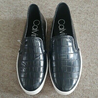 £24 • Buy Calvin Klein Mario Mens Black Slip On Casual Shoes Trainers  Uk Size 8 Eu 42.new