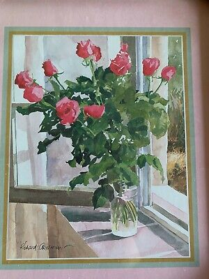 £2.99 • Buy Wild Pink Roses Flowers Picture Print Wall Art Framed Brand New Boxed Signed