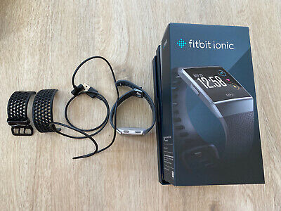 AU68.41 • Buy Fitbit Ionic Bluetooth Activity Tracker - Charcoal/Smoke Grey, One Size