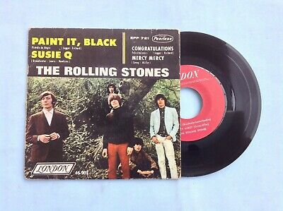 £28.59 • Buy The Rolling Stones Rare Mexican Ep Paint It Black From Aftermath Lp Era 1966 Red