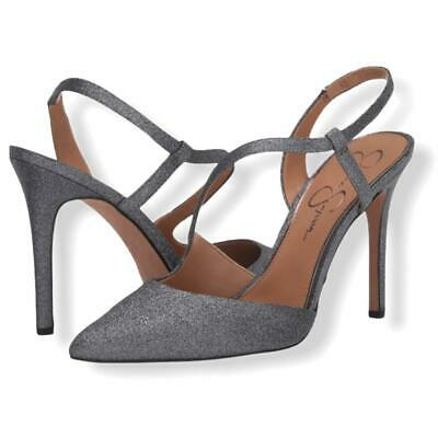 £32.91 • Buy Jessica Simpson Strappy Pull-on Silver Shiny Pointed Toe Women's Shoes.