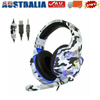 AU22.50 • Buy 3.5mm K17 Gaming Headset MIC LED Headphones For PC Laptop PS4 Pro Xbox One S 360