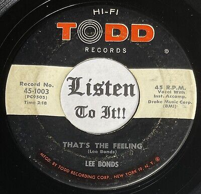 £1.46 • Buy 50s Country Bopper 45 LEE BONDS One More Time / Thats The Feeling TODD Hear