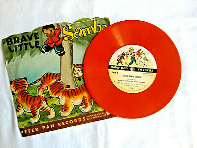 £5.49 • Buy Vintage 1950 Little Brave Sambo 45 RPM Record W/Sleeve Peter Pan Records