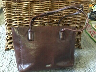 AU48 • Buy Vintage OROTON Hand Bag Rich Brown Leather Large Tote