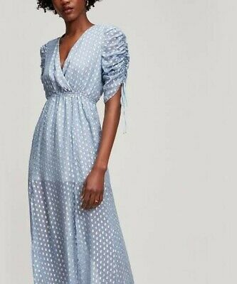 AU99 • Buy Alice McCall Surrender Maxi Dress Silk Blend Blue Size 10 Perfect Condition