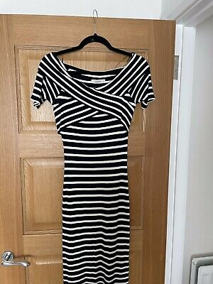 £2 • Buy Oasis Navy And White Stripe Dress Size M