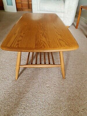 £185 • Buy Ercol Coffee Table With Magazine Rack Light Elm Immaculate. Local Delivery Poss