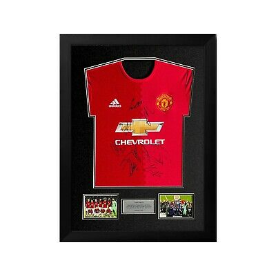 £395 • Buy Manchester United 2017/2018 Squad Signed And Framed Shirt 100% Authentic