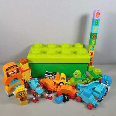 £19.99 • Buy Lego Duplo Trains, Animals, Vehicle, Numbers Counting Bundle With Container Box