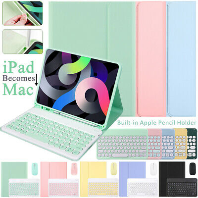 AU26.99 • Buy Bluetooth Keyboard Smart Case Cover With Mouse For IPad 7/8th 5/6th Gen 9.7 10.2