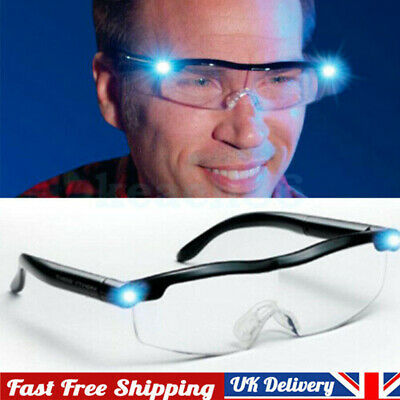 £6.59 • Buy Hands Free Magnifying Glasses Magnifier 180% With LED For Reading Sewing Adults