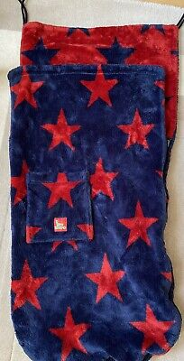 £15 • Buy Buggy Snuggle Footmuff Navy And Red Stars Used Beautiful