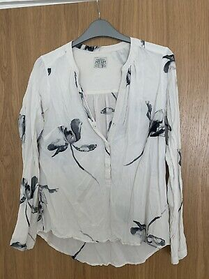 £4.20 • Buy Womens / Ladies Joules Grey And White Size 10 Button Top / Blouse