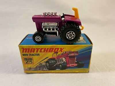 £14.99 • Buy Vintage Matchbox Superfast Mod Tractor No.25b - Boxed - Made In England